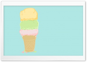 Ice Cream Cartoon HD Wide Wallpaper for Widescreen