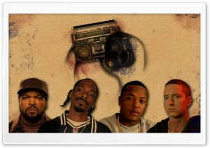 Ice Cube, Snoop Dogg, Dr Dre & Eminem HD Wide Wallpaper for Widescreen