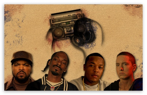 Ice Cube, Snoop Dogg, Dr Dre & Eminem HD wallpaper for Wide 16:10 5:3 Widescreen WHXGA WQXGA WUXGA WXGA WGA ; HD 16:9 High Definition WQHD QWXGA 1080p 900p 720p QHD nHD ; Mobile 5:3 16:9 - WGA WQHD QWXGA 1080p 900p 720p QHD nHD ;