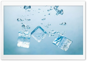Ice Cubes - Bubbles HD Wide Wallpaper for Widescreen
