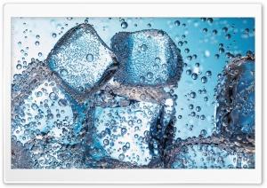 Ice Cubes - Closeup HD Wide Wallpaper for Widescreen