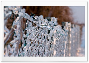Ice Fence HD Wide Wallpaper for Widescreen