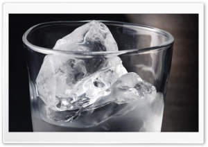 Ice In A Glass Of Water HD Wide Wallpaper for Widescreen
