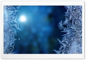 Ice on Glass HD Wide Wallpaper for Widescreen