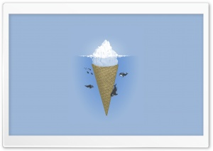 Iceberg Ice Cream HD Wide Wallpaper for 4K UHD Widescreen desktop & smartphone