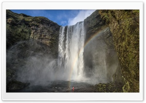 Iceland Famous Waterfall