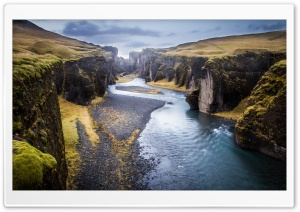 Iceland, Fjadrargljufur Canyon HD Wide Wallpaper for 4K UHD Widescreen desktop & smartphone