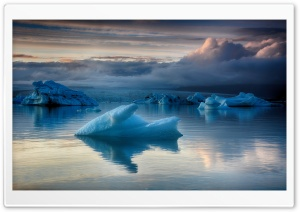 Iceland Glacier Lagoon Blue Ice HD Wide Wallpaper for 4K UHD Widescreen desktop & smartphone