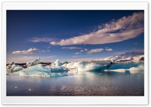 Iceland Glacier Lagoon Jokulsarlon HD Wide Wallpaper for 4K UHD Widescreen desktop & smartphone