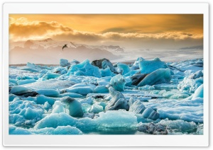 Iceland Jokulsarlon HD Wide Wallpaper for 4K UHD Widescreen desktop & smartphone
