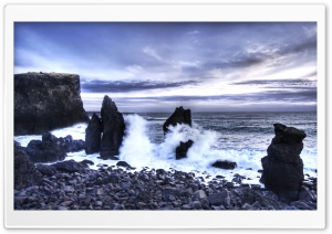 Iceland Sea Shore HD Wide Wallpaper for Widescreen