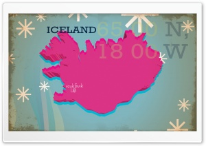 Iceland Vintage Map HD Wide Wallpaper for Widescreen