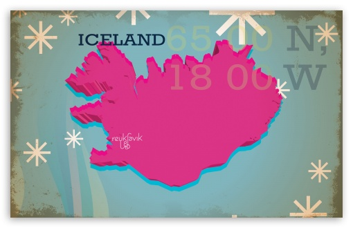 Download Iceland Vintage Map UltraHD Wallpaper
