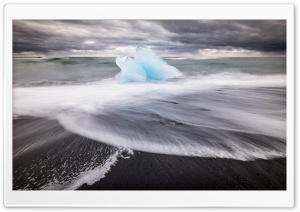 Icelands famous Diamond Beach HD Wide Wallpaper for 4K UHD Widescreen desktop & smartphone