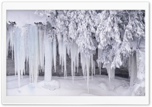 Icicles HD Wide Wallpaper for Widescreen