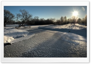 Icy River, Winter HD Wide Wallpaper for 4K UHD Widescreen desktop & smartphone