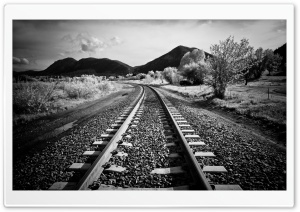 I'd Walk Along The Railway HD Wide Wallpaper for Widescreen