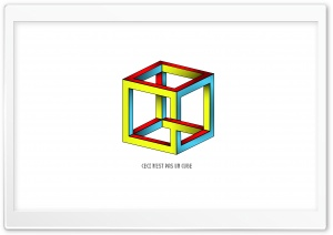 Illusion Cube HD Wide Wallpaper for Widescreen