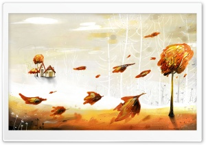 Illustration Of Autumn HD Wide Wallpaper for 4K UHD Widescreen desktop & smartphone