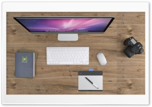 iMac Desk HD Wide Wallpaper for Widescreen