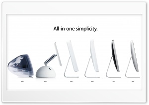 iMac Evolution HD Wide Wallpaper for Widescreen