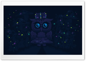 ImagineBlueOwls HD Wide Wallpaper for Widescreen