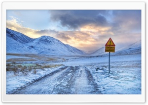 Impassable Road Winter HD Wide Wallpaper for Widescreen