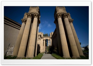 Imposing Columns HD Wide Wallpaper for Widescreen