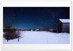 Impressive Snowscape with Amazing Sky HD Wide Wallpaper for Widescreen