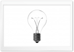Incandescent Light Bulb Ultra HD Wallpaper for 4K UHD Widescreen desktop, tablet & smartphone