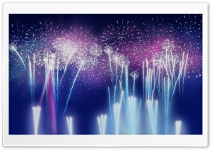 Independence Day Fireworks Background HD Wide Wallpaper for Widescreen