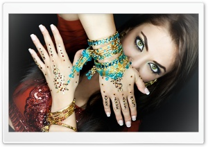 Indian Makeup HD Wide Wallpaper for Widescreen