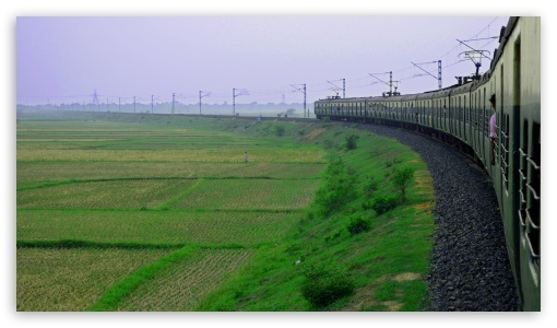 Indian Railway 4K HD Desktop Wallpaper for 4K Ultra HD TV