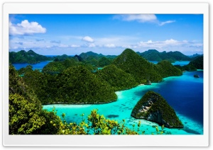 Indonesia Islands Blue Water HD Wide Wallpaper for Widescreen