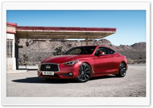 Infiniti Q60 2017 gas station HD Wide Wallpaper for 4K UHD Widescreen desktop & smartphone