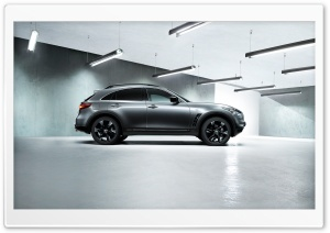 Infiniti QX70 S Black HD Wide Wallpaper for Widescreen