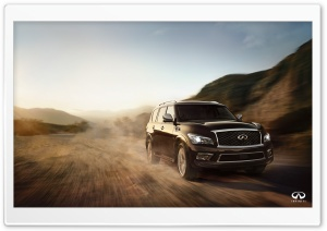 Infiniti QX80 outdoor drive HD Wide Wallpaper for Widescreen