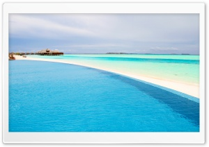 Infinity Pool, Maldives HD Wide Wallpaper for Widescreen