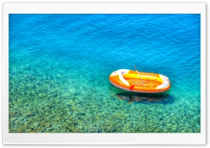 Inflatable Boat in Kroatia HD Wide Wallpaper for Widescreen