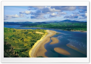 Inishowen Trawbreaga Bay Five Finger Beach HD Wide Wallpaper for Widescreen