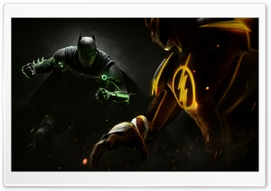 Injustice 2 Batman vs. Flash HD Wide Wallpaper for 4K UHD Widescreen desktop & smartphone