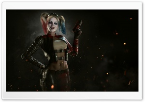 Injustice 2 Harley Quinn HD Wide Wallpaper for Widescreen
