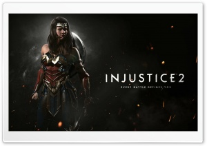 Injustice 2 Wonder Woman HD Wide Wallpaper for Widescreen