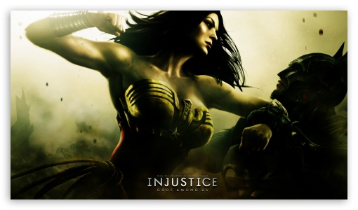 Injustice Gods Among Us - Batman vs Wonder Woman HD wallpaper for HD 16:9 High Definition WQHD QWXGA 1080p 900p 720p QHD nHD ; Mobile PSP - Sony PSP Zune HD Zen ;
