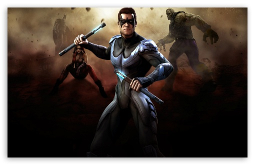 Injustice Gods Among Us - Nightwing HD wallpaper for Wide 16:10 5:3 Widescreen WHXGA WQXGA WUXGA WXGA WGA ; HD 16:9 High Definition WQHD QWXGA 1080p 900p 720p QHD nHD ; Standard 4:3 5:4 3:2 Fullscreen UXGA XGA SVGA QSXGA SXGA DVGA HVGA HQVGA devices ( Apple PowerBook G4 iPhone 4 3G 3GS iPod Touch ) ; Tablet 1:1 ; iPad 1/2/Mini ; Mobile 4:3 5:3 3:2 16:9 5:4 - UXGA XGA SVGA WGA DVGA HVGA HQVGA devices ( Apple PowerBook G4 iPhone 4 3G 3GS iPod Touch ) WQHD QWXGA 1080p 900p 720p QHD nHD QSXGA SXGA ;