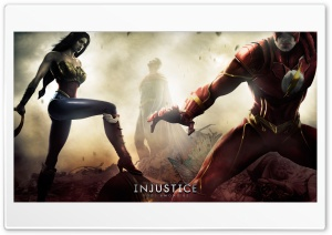 Injustice Gods Among Us - Wonder Woman, Superman & Flash HD Wide Wallpaper for Widescreen
