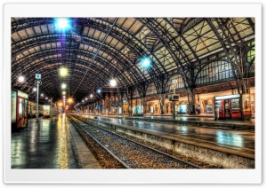 Inside A Train Station HD Wide Wallpaper for 4K UHD Widescreen desktop & smartphone