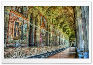 Inside the Castle HDR HD Wide Wallpaper for Widescreen
