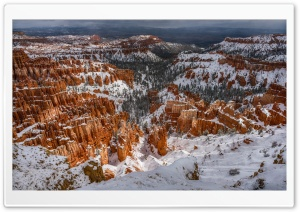 Inspiration Point, Bryce Canyon, Utah, Winter HD Wide Wallpaper for Widescreen