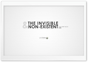 Invisible and Non-Existent HD Wide Wallpaper for 4K UHD Widescreen desktop & smartphone